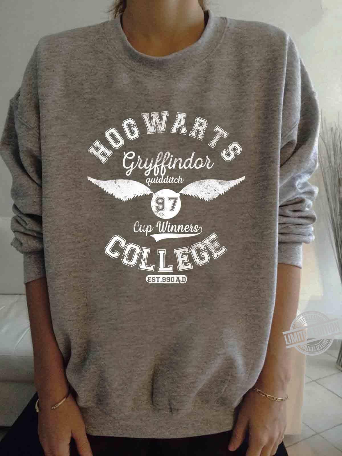 Hogwarts Gryffindor Quidditch 97 Cup Winners College Est 990 A.D Shirt