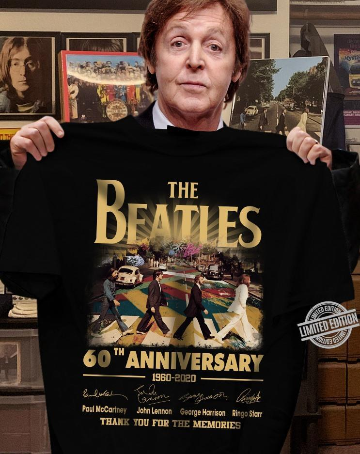 The Beatles 60th Anniversary 1960-2020 Thank You For The Memories Shirt