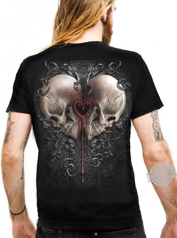 The Heart Is Between Two The Skulls Shirt