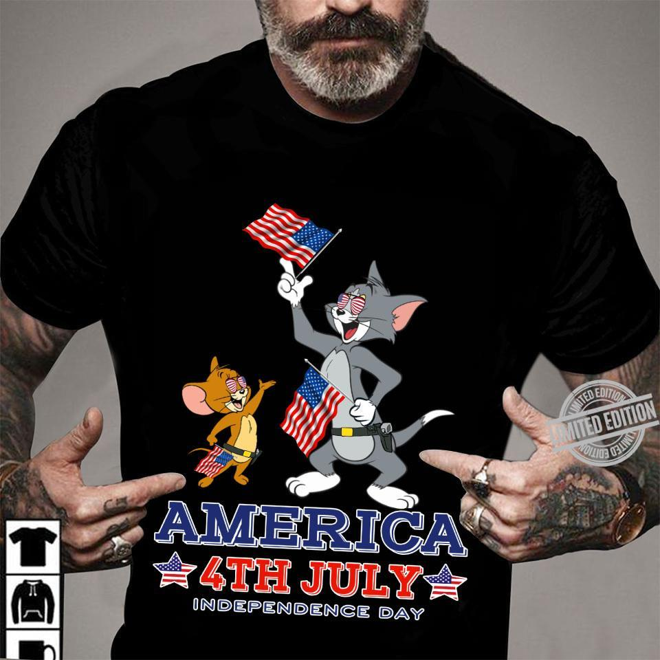 Tom And Jerry America 4th July Independence Day Shirt