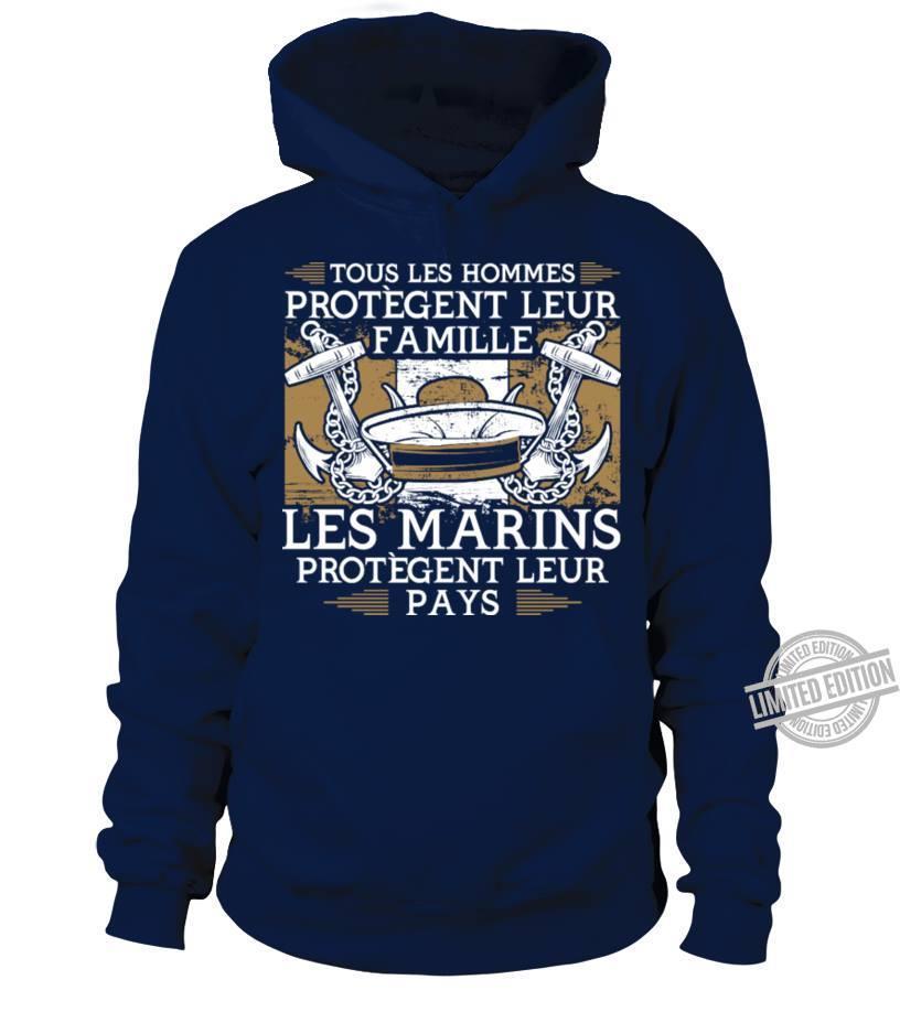 Tous Les Hommes Protegent Leur Famille Les Marins Protegent Leur Pays Shirt
