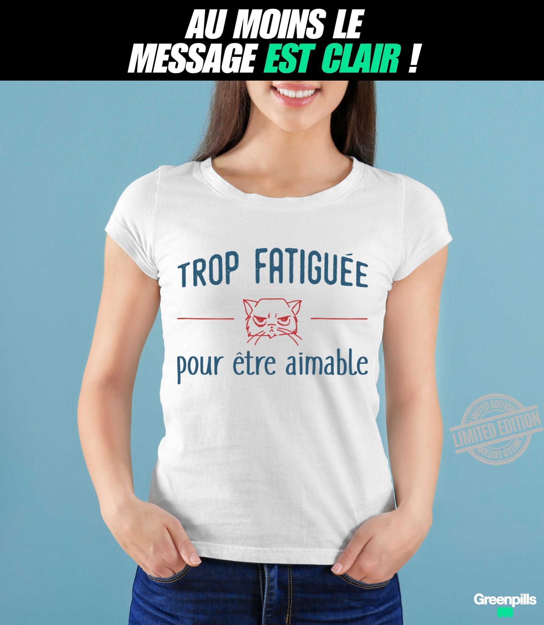 Trop Fatigue Pour Etre Animable Shirt