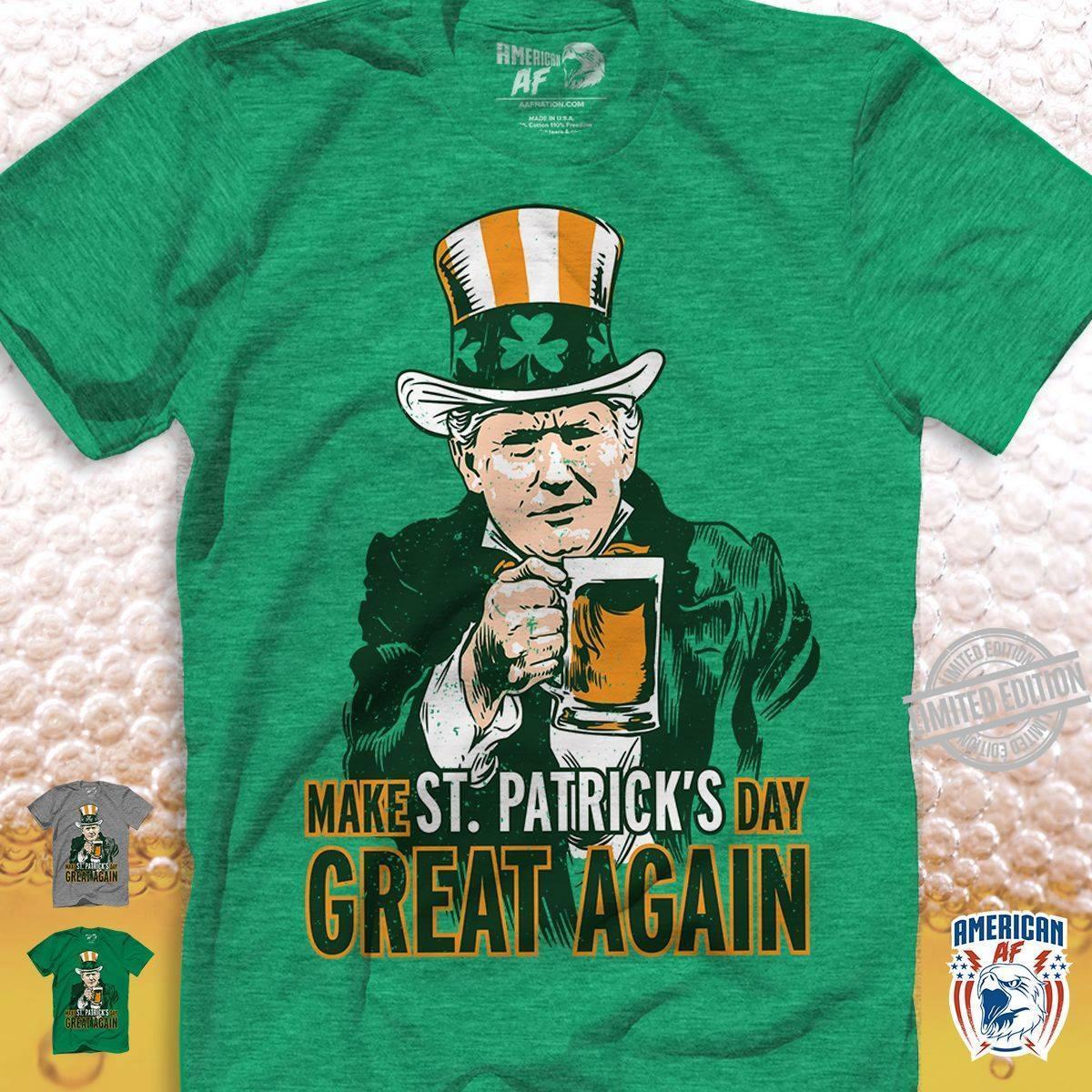 Trump Make St. Patrick's Day Great Again Shirt