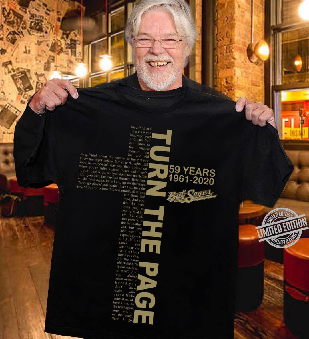 Turn The Page 59 Years 1961-2020 Shirt