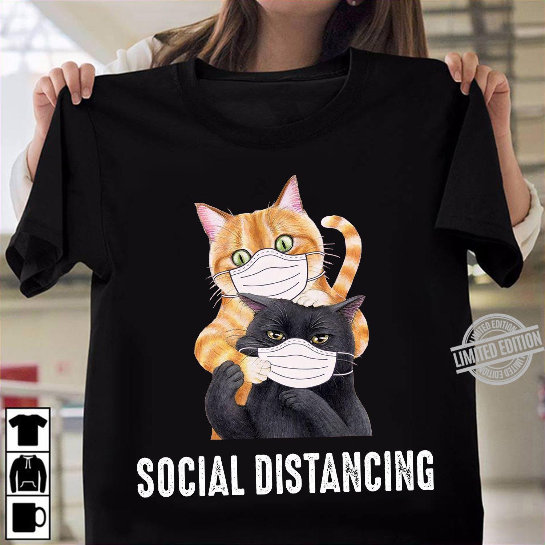 Two Cats Social Distancing Shirt