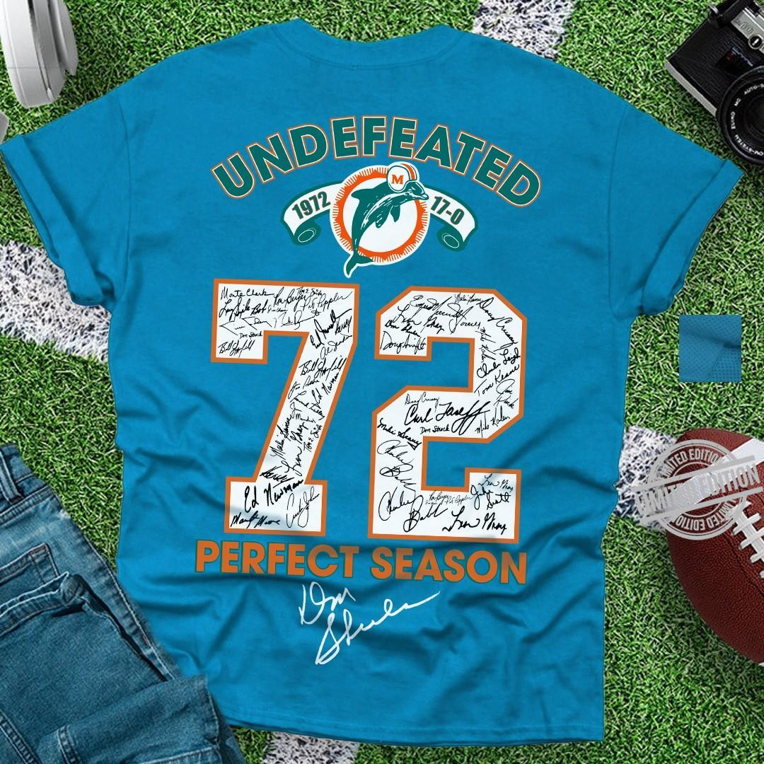 Undefeated 72 Perfect Season Shirt