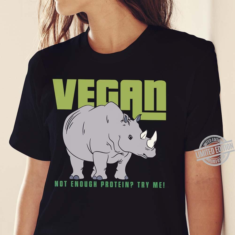 Vegan Mighty Rhino Healthy Lifestyle Cool Funny Shirt