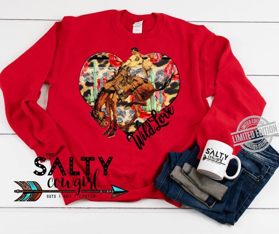 Wild Love The Salty Cowgirl Guts I Grit Lipstick Shirt